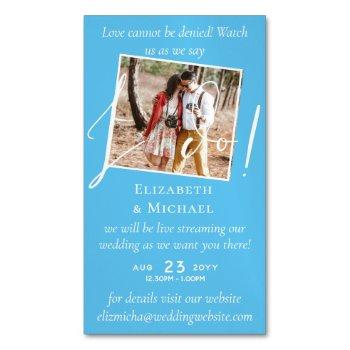 25 x magnetic wedding livestreaming save the date business card magnet