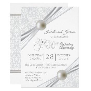 30th pearl anniversary design invitation
