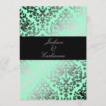 311 dazzling damask mint invitation