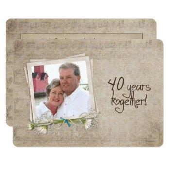 40th wedding anniversary open house invitation