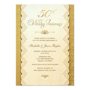 50th anniversary gold invitation