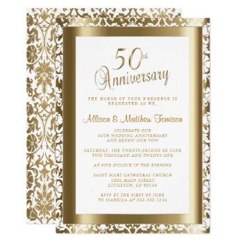 50th golden 💑 wedding anniversary 2 | diy text invitation
