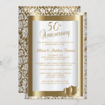 50th golden wedding anniversary | diy text invitation