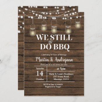 50th we still do bbq wedding anniversary invite