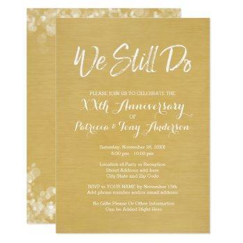 50th wedding anniversary - we still do faux gold invitation