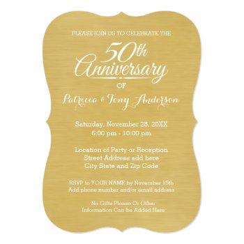 Small 50th Wedding Anniversary With Photo - We Still Do Invitation Back View