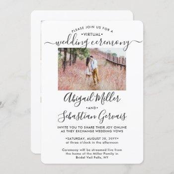 5 photo virtual wedding livestream long distance invitation