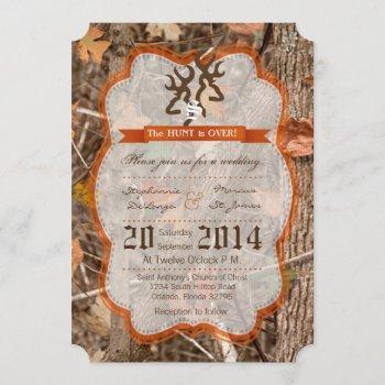 5x7 hunting couple deer doe wedding invitation