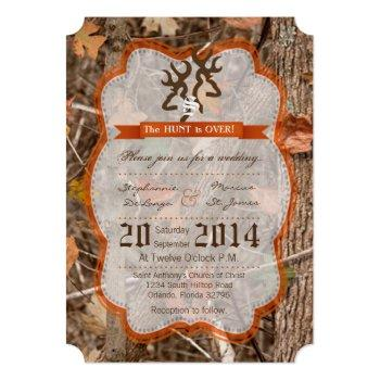 5x7 hunting couple deer doe wedding invitation