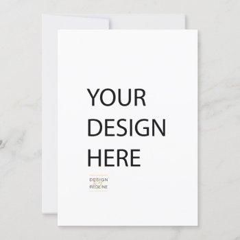 5x7 invitation custom print