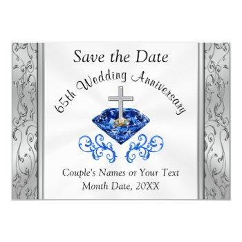 65th wedding anniversary save the date cards