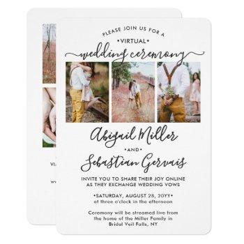 7 photo virtual wedding livestream long distance invitation