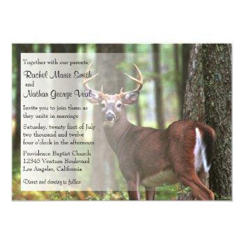 a hunter's wedding invitation