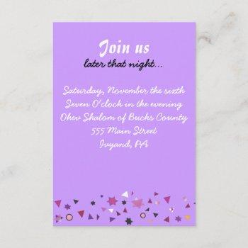 abstract tree of life bat mitzvah party card