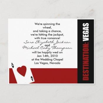 ace of hearts destination vegas wedding invitation