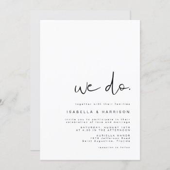 adella - modern minimalist simple wedding we do invitation