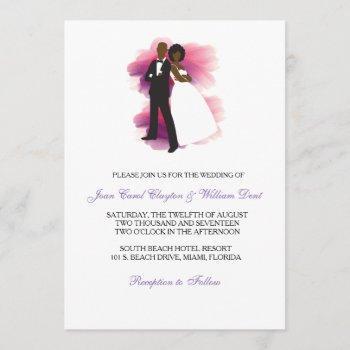 african american wedding invitation