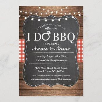 after the i do bbq post wedding invitation chalk