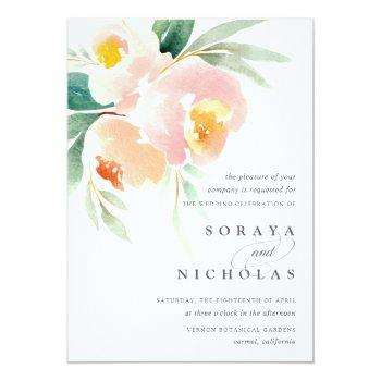 Small Airy Floral | Wedding Invitation Front View