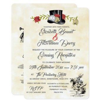 alice in wonderland evening invitation