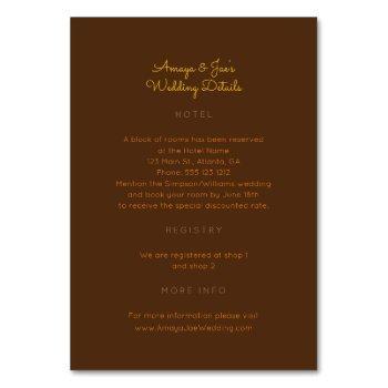 ankara african wedding details 2-sided insert card