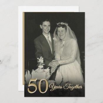 any year together wedding anniversary photo invitation