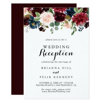 autumn rustic modern calligraphy wedding reception invitation