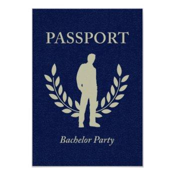 bachelor party passport invitation