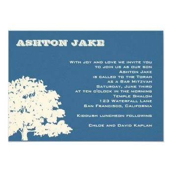 bar mitzvah invitation ashton tree hebrew