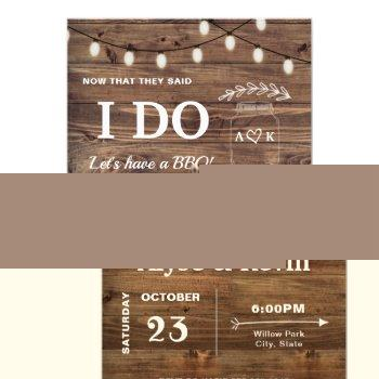 barnwood fairy lights i do bbq invitation