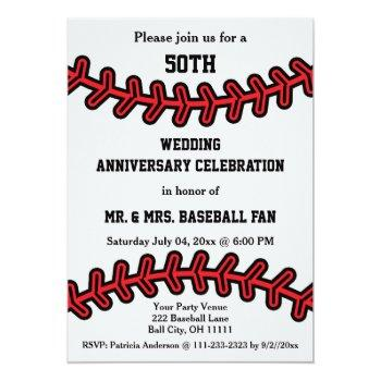 baseball ball player fan sport wedding anniversary invitation