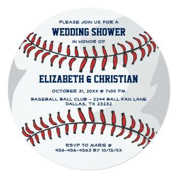 baseball ball wedding shower invitation