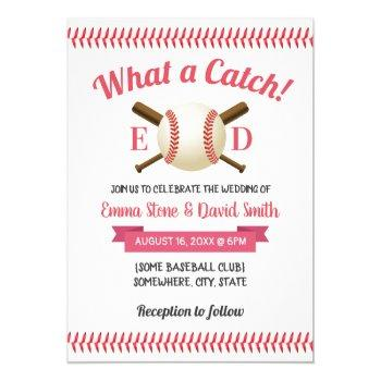 baseball sports theme wedding invitation