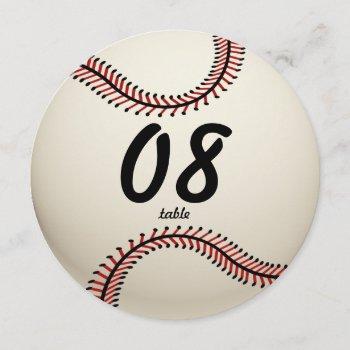 baseball table number