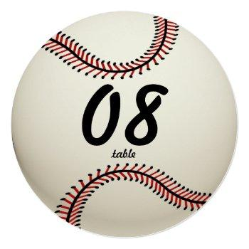 baseball table number
