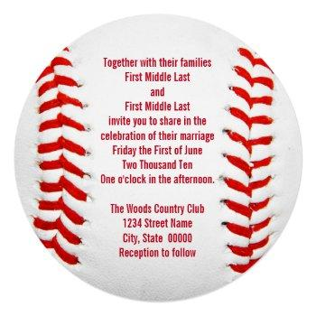baseball wedding invitations