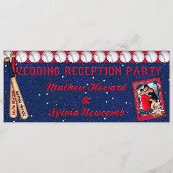 baseball wedding reception invite-custom howard invitation