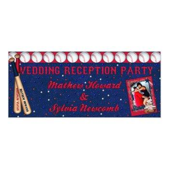 baseball wedding reception invite-custom howard invitation