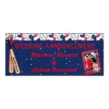 baseball wedding ticket invite-custom howard invitation