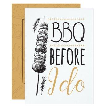bbq before i do couple's wedding shower invitation