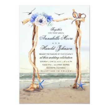 Small Beach Arbor Wedding Invitations Front View
