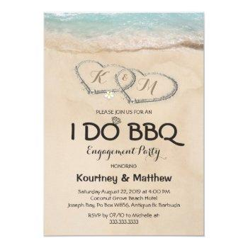 beach i do bbq engagement party invitation