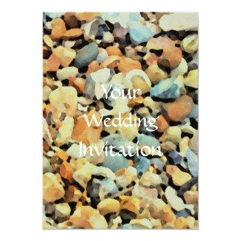 Small Beach Theme Wedding Invitation Back View