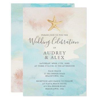 beach themed wedding invitation