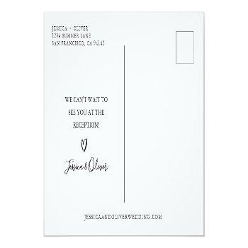 Small Beach Wedding Cancellation Announcement Postcards Back View