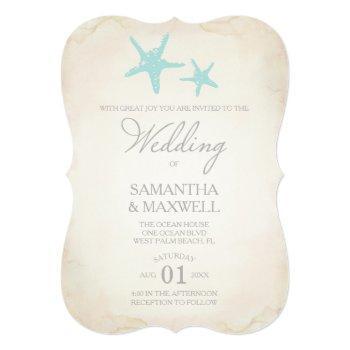 beach wedding invitation - starfish