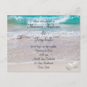 beautiful, beach wedding invitation