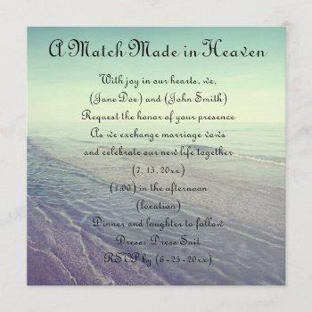 beautiful retro pastel scenic ocean view invitation