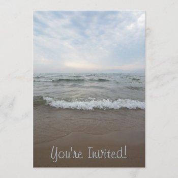 beautiful scenic ocean view invitation