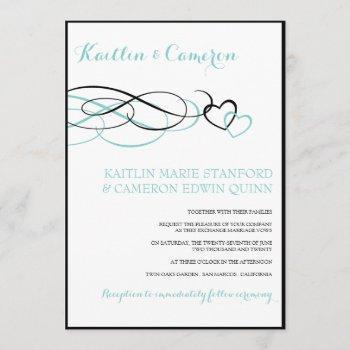 beloved (black & tiffany blue) wedding invitations